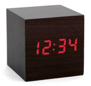 Alarm Clock Wood Cube Dark: Reloj Despertador (ac22-dk)