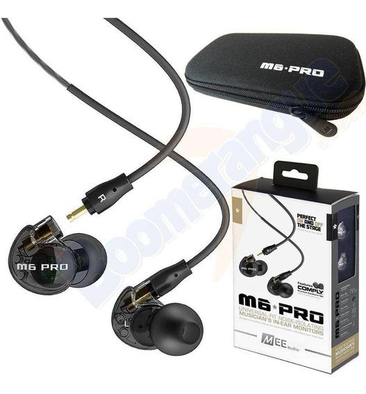 Fone Headphone In-ear Mee Audio M6 Pro Retorno Preto