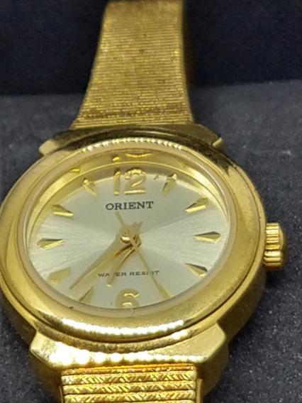 Relogio Feminino Dourado Orient Quartz