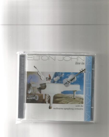 Cd Elton John - Live In Australia (novo/aberto)