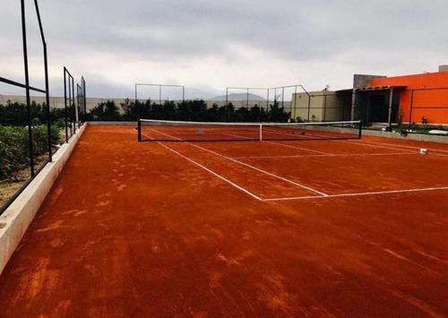 Construcciones Manten Canchas De Tenis De Polvo De Ladrillo