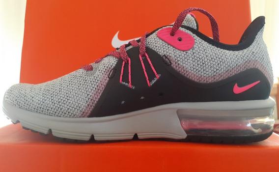 Zapatillas Nike Air Max Sequent 3 Mujer Fucsia Originales