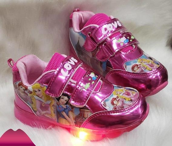 Zapatos De Luces Lol Princesas Super Heroes Niños Y Niñas