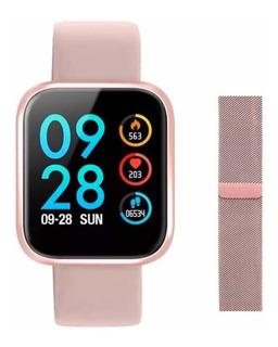Relógio Smartwatch P70 Batimento Cardíaco C/ 2 Pulseiras