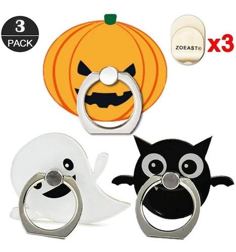 Zoeast(tm) 3 Pack Phone Ring Halloween Pumpkin Lantern Devil