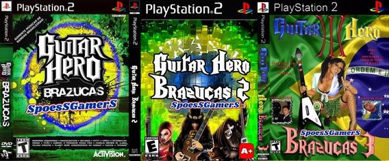 Guitar Hero 3 Brazucas Ps2 Coleção (3 Dvd) Spin-off Patch Me