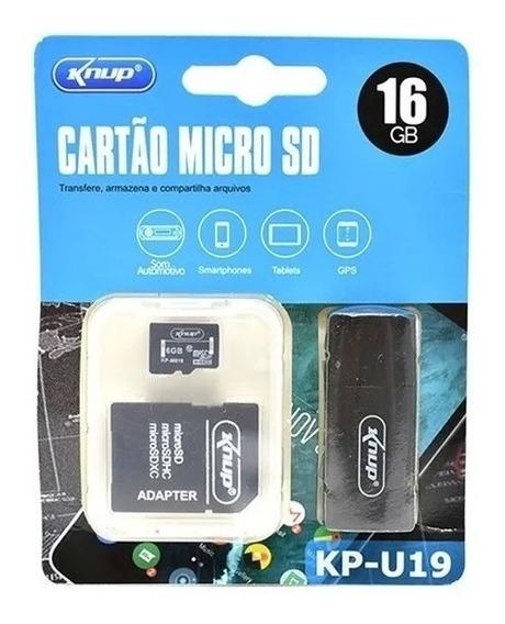 Cartão De Memória - Micro Sd - 16 Gb - Com Adaptador- Kp U19