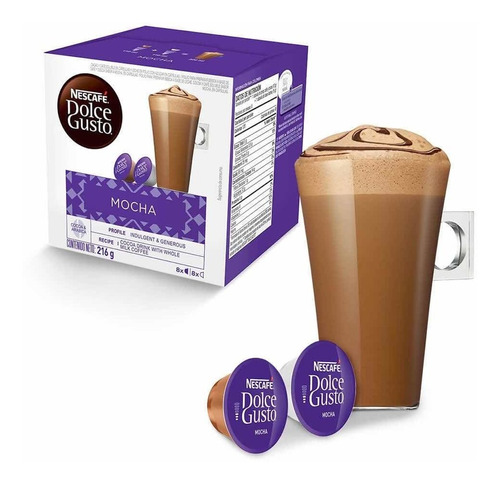 Volvio! Caja 16 Capsulas Mocha Chocolate Dolce Gusto Oficial