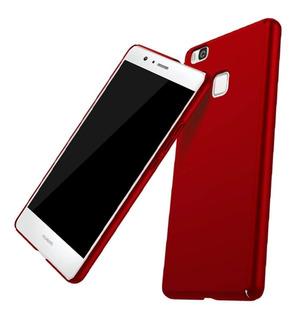 Capa Case Rigida Vermelha Huawei P9 Lite Pelicula Em Vidro