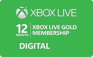 Disponible Xbox Live Gold 12 Meses