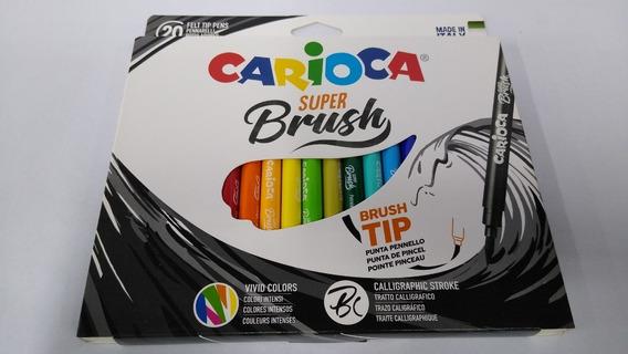 Marcador Punta Pincel Carioca Super Brush X 20 Made In Italy