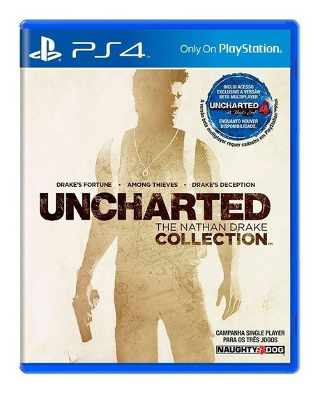Uncharted The Nathan Drake Collection Ps4 Mídia Física
