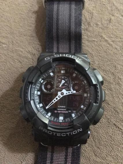 Relógio Casio G-shock Ga-100mc-1adr Usado