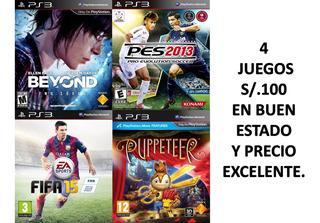 Fifa 15,beyond,pes 2013 Y Puppeteer En Buen Estado Y Precio.