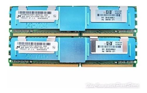 Imagem 1 de 2 de Kit 2x 8gb 16gb Ram Fbdimm P/ Dell Precision Poweredge E Hp