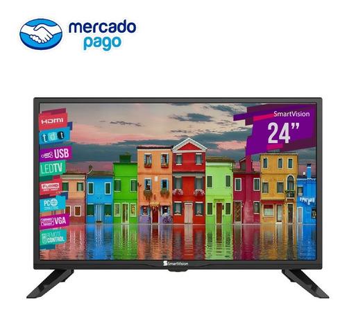 Tv Led 24'' Smartvision Digital D60 Vtl-hd2460t2