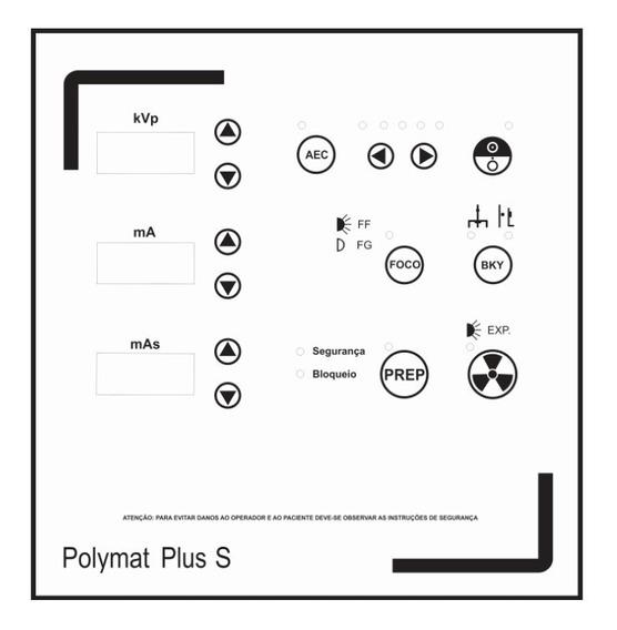 Painel P/ Aparelho Raio X Polymat Plus S Siemens - Cód 1197