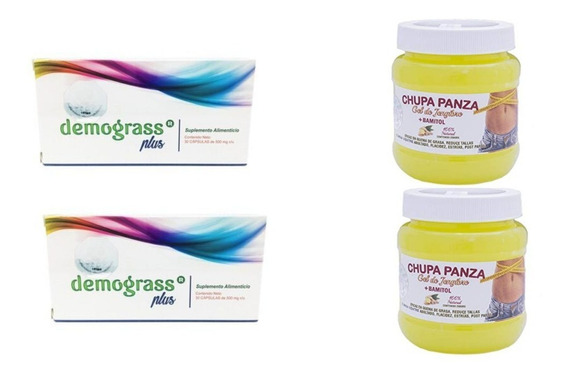 Pack Baja De Peso De Forma Natural: Dermograss Plus (2 Cajas) + 2 Chupa Panzas 100% Originales