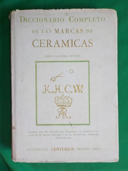 Livro Raro Dicionário De Cerâmicas Antigo
