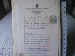 109 - Documento Com Selos De Fiscais Do Brasil