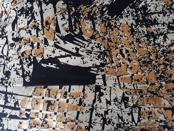 Macacão Panta Court De Viscolycra Estampada De Alça E Botões