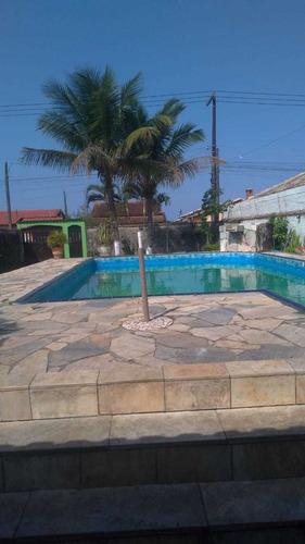 Imagem 1 de 14 de Ca113-f | Casa Com Piscina No Cibratel, Itanhaém.