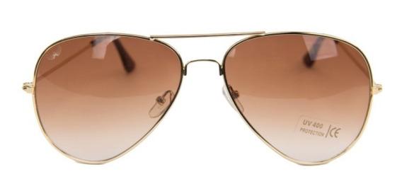Óculos De Sol Aviador Unissex (lançado Em Nova York) +brinde