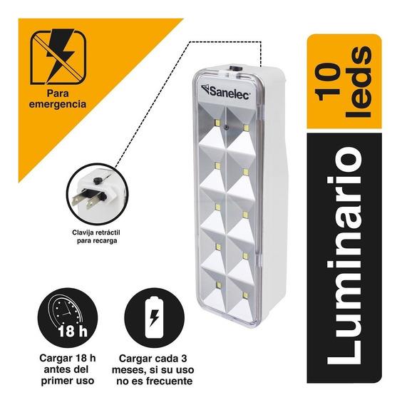 Sanelec 2128 Luminario De Emergencia 10 Led