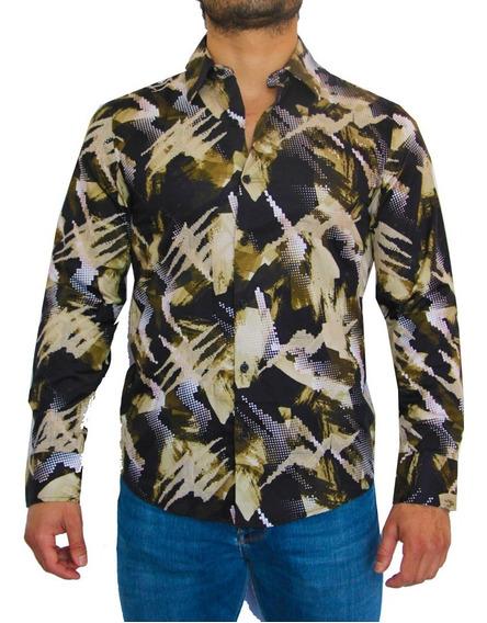 Camisa Hombre Garigoleada Dorada | Pt