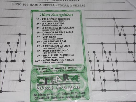Partitura Coletânea Nº 05 Para Cítara Mini Harpa10 Partitura