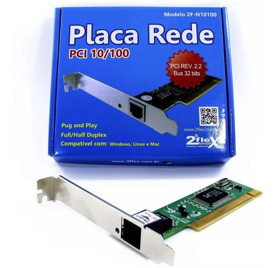 Placa De Rede 2flex Pci 10/100