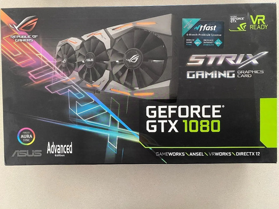 Placa De Video Gamer Asus Gtx 1080 Strix Advanced 8g En Caja