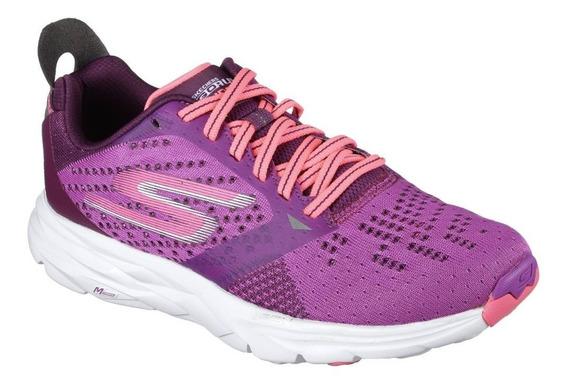 Skechers Zaptillas Running Mujer Go Run Ride 6 Purpura Rosa