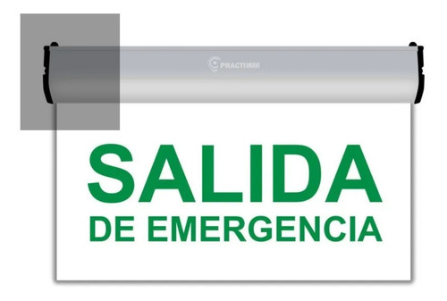 Imagen 1 de 7 de Cartel Salida De Emergencia Led Luminoso 220v 3hs Autonomia