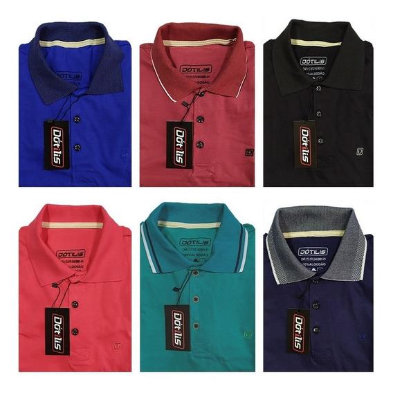 Kit 6 Camisa Polos Masculinas Dótilis
