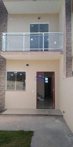 Casa Com 2 Dormitórios À Venda, 63 M² Por R$ 270.000,00 - Jardim Atlântico Leste (itaipuaçu) - Maricá/rj - Ca0904