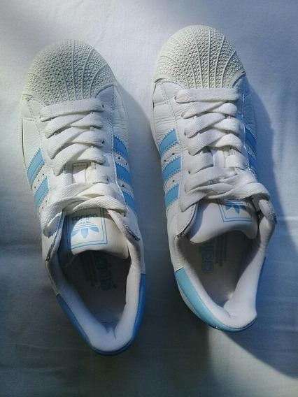 Tênis adidas Branco Superstar/ Couro/ Original/ 38