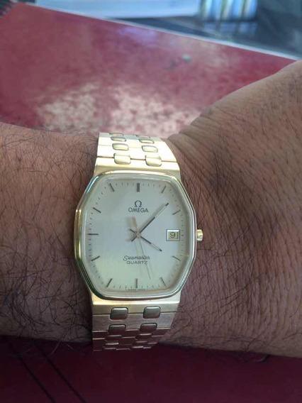 Reloj Omega Seamaster Quartz Chapa Oro Original 100% Acero