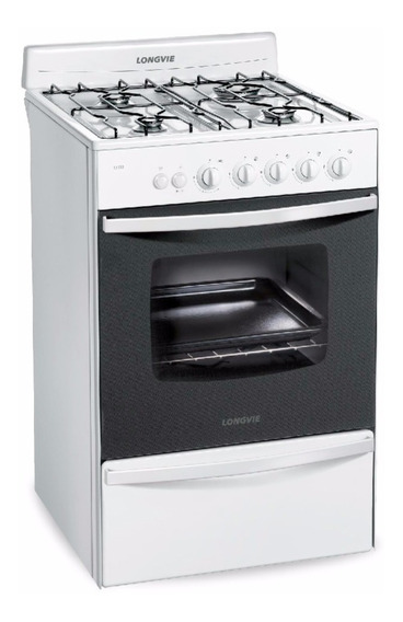 Cocina Longvie 13331bf Multigas 56cm Blanca Luz Encendido Pc