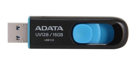 Pendrive Adata UV128 16GB preto/azul