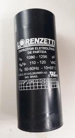 Capacitor Eletrolítico Partida 1080 1296, 110v, 8 Por R$280