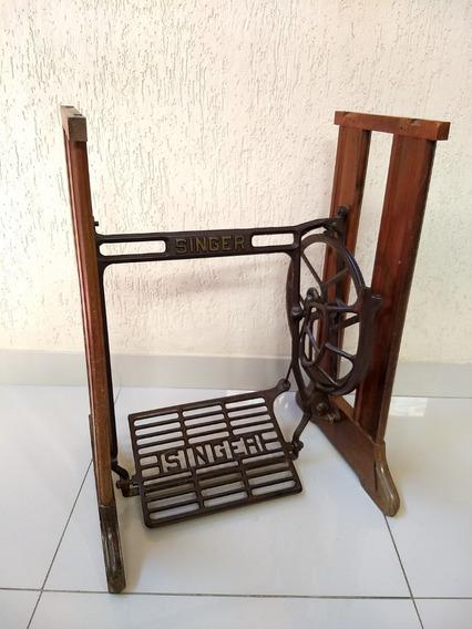 Antigo Pé De Maquina De Costura Singer Mesa Retro Vintage