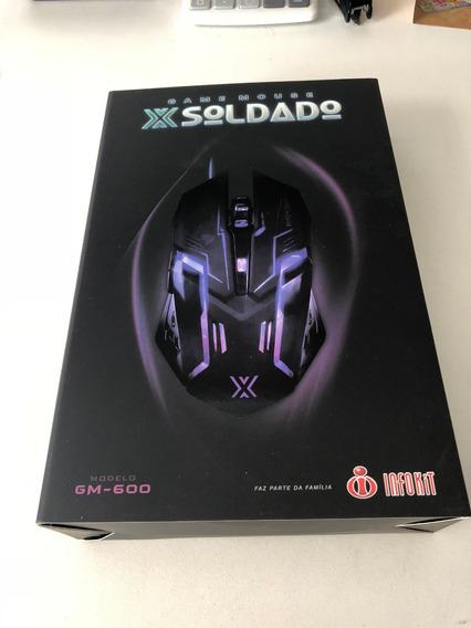 Game Mouse X Soldado Gm- 600 - Novo-7 Cores De Led-3200 Dpi