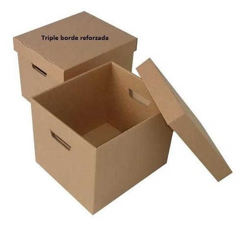 12 Caja De Cartón X300 Para Manejo Archivos Con Tapa