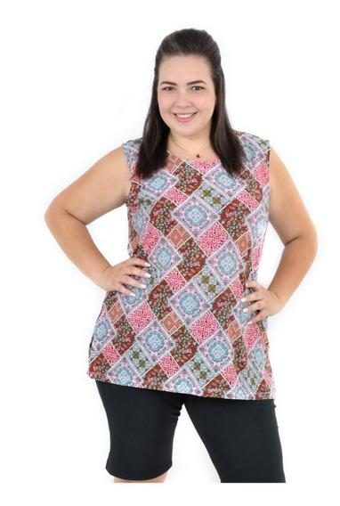 Kit 5 Blusa Feminina Plus Size Tamanho Especial Até G7