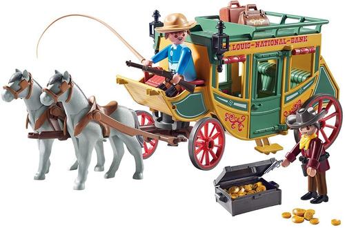 Playmobil Diligencia Del Oeste Cowboys Int 70013 Orig Intek