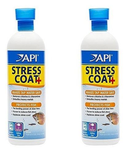2 Pack Api Stress Coat Acondicionador De Pescado Y Agua Del