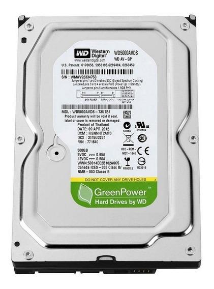 Hd Western Digital 500 Gb Sata3 Pc 7200rpm Greenpower Novo