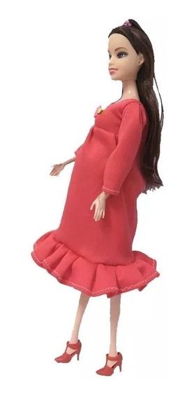 Boneca Real Gravida Família Mãe Bebê Boneca Gestante