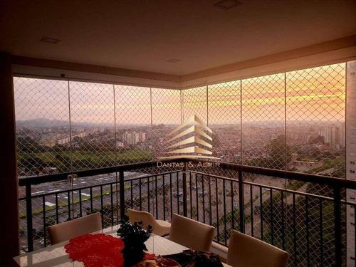 Apartamento C/ Varanda Gourmet Com 2 Dormitórios 1 Suíte À Venda, 56 M² Por R$ 410.000 - Bosque Maia - Guarulhos/sp - Ap1183